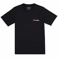 BERGHAUS HERITAGE FRONT AND BACK LOGO TEE BLACK