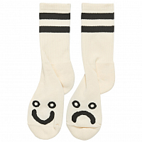 POLAR SKATE CO HAPPY SAD SOCKS IVORY