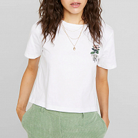 Element OPTIMIST CROP SS White