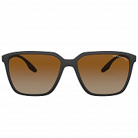 Prada Linea Rossa 0PS 06VS BLACK RUBBER/POLAR BROWN GRADIENT