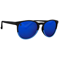 Majesty RUSH black/blue with blue mirror lenses polarized
