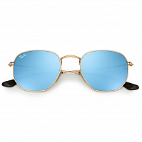 Ray Ban HEXAGONAL GOLD/LIGHT BLUE FLASH