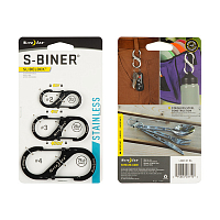 Nite Ize S-BINER SLIDELOCK STAINLESS STEEL COMBO 3 PACK BLACK