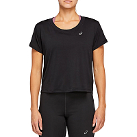 Asics Race Crop SS TOP PERFORMANCE BLACK
