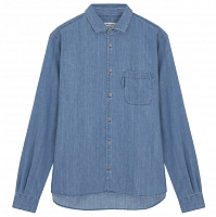 YMC CURTIS SHIRT INDIGO BLEACH