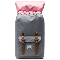 Herschel Little America GREY/TAN SYNTHETIC LEATHER