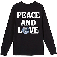 STUSSY PEACE & LOVE LS TEE BLACK