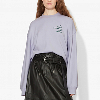 Proenza Schouler White Label Long Sleeve Sweatshirt LAVENDER SMALL ADDRESS