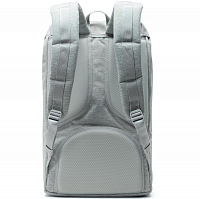 Herschel Little America Light Grey Crosshatch/Grey Rubber