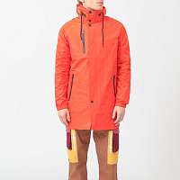 THE HUNDREDS END TRENCH COAT ORANGE