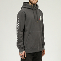 Roark WRENCHED HOODED FLEECE blk