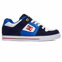 DC PURE B SHOE NAVY/RED