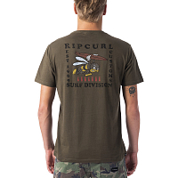 Rip Curl SEA BEES S.I. TEE MILITARY GREEN