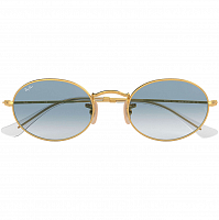 Ray Ban OVAL ARISTA/CRYSTAL WHITE GRAD. BLUE
