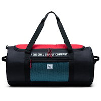 Herschel SUTTON CARRYALL BLACK/RED/BACHELOR BUTTON