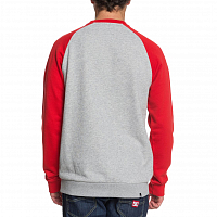 DC CIRCLE STAR CRE M OTLR GREY HEATHER/RACING RED
