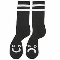 POLAR SKATE CO HAPPY SAD SOCKS BLACK