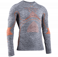 X-Bionic ENERGY ACCUMULATOR 4.0 MELANGE SHIRT ROUND NECK LG Grey Melange/Orange