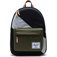 Herschel CLASSIC X-LARGE BLACK/IVY GREEN/LIGHT GREY CROSSHATCH