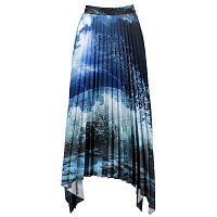 PAUL AND SHARK 100 PLISSÈ SKIRT PRINT ON BLUE