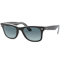 Ray Ban Wayfarer BLACK ON TRASPARENT/GRADIENT BLUE