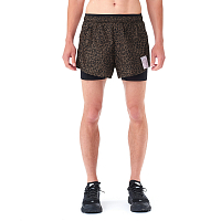 SATISFY TRAIL LONG DISTANCE 3 SHORTS LEOPARD