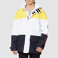 Paul & Shark TYPHOON 2000 COLOR BLOCKED JACKET TRICOLOUR YELLOW/WHITE/BLUE