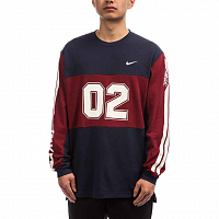 Nike M NK SB TOP MESH LS GFX OBSIDIAN/TEAM RED/OBSIDIAN/SUMMIT WHITE