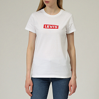 Levi's® THE PERFECT TEE BOX TAB WHITE+ GRAPHIC