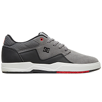 DC BARKSDALE M SHOE GREY/BLACK/RED