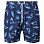 PAUL AND SHARK SWIMMING SHORTS IN SHARK THEME PRINT NAVY WITH SKYBLUE SHARK