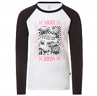 Vans LADY VANS STING LS RAGLAN DIY WHITE-BLACK