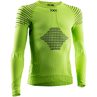 X-Bionic INVENT 4.0 SHIRT ROUND NECK LG SL JR GREEN LIME/BLACK