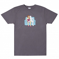 RIPNDIP INSIDE ACTIVITIES TEE GREY REACTIVE INK