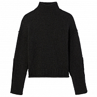 Proenza Schouler White Label Luxe Wool Cashmere Turtleneck Sweater Charcoal