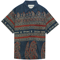 STORY MFG SHORE SHIRT INDIGO BOOTLEG BLOCK
