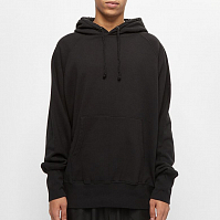 NANAMICA HOODED PULLOVER SWEAT BLACK