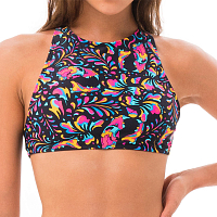 69slam MILA SURF CROP BRA TIGER SKULL