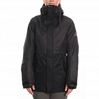 686 WMS JETT INSULATED JACKET BLACK SUEDE
