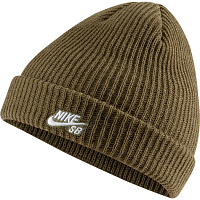 Nike U NK BEANIE FISHERMAN MEDIUM OLIVE/WHITE