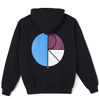 POLAR SKATE CO 3 Tone Fill Logo Hoodie BLACK