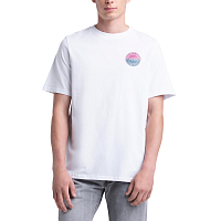 Herschel TEE TWO TONE LOGO STAMP BRIGHT WHITE