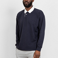 GARBSTORE DROP OUT SPORTS RUGBY SHIRT NVY
