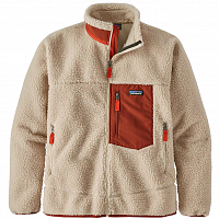 Patagonia M'S CLASSIC RETRO-X JKT NATURAL W/BARN RED