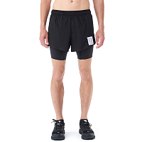 SATISFY SHORT DISTANCE 8 SHORTS BLACK SILK