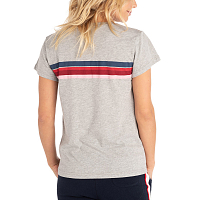 Rip Curl WETTY STRIPE TEE CEMENT MARLE