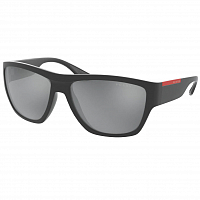 Prada Linea Rossa 0PS 08VS RUBBER GREY/DARK GREY FLASH SILVER