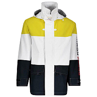 PAUL AND SHARK TYPHOON 2000 COLOR BLOCKED JACKET TRICOLOUR YELLOW/WHITE/BLUE