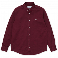 Carhartt WIP L/S Madison Shirt BORDEAUX / WAX