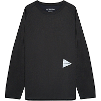 And Wander Power DRY Jersey Raglan Longsleeve T Charcoal
